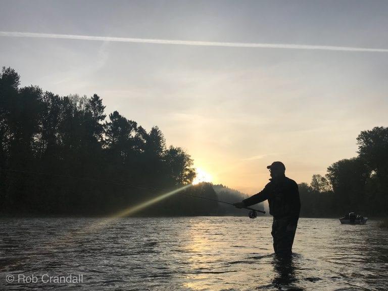 Fly fishing the Clackamas River near Portland