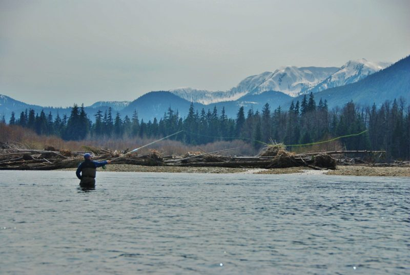 winter spey fishing on the Clackamas River