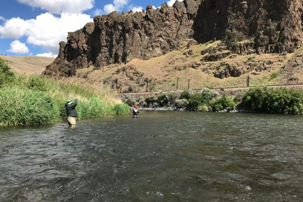 Men on guided fly fishing trip with Water Time Outfitters