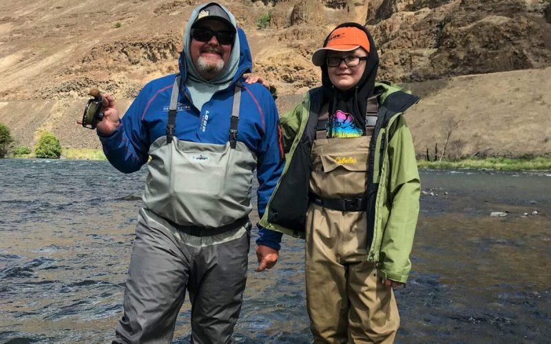 father and son fishing trip